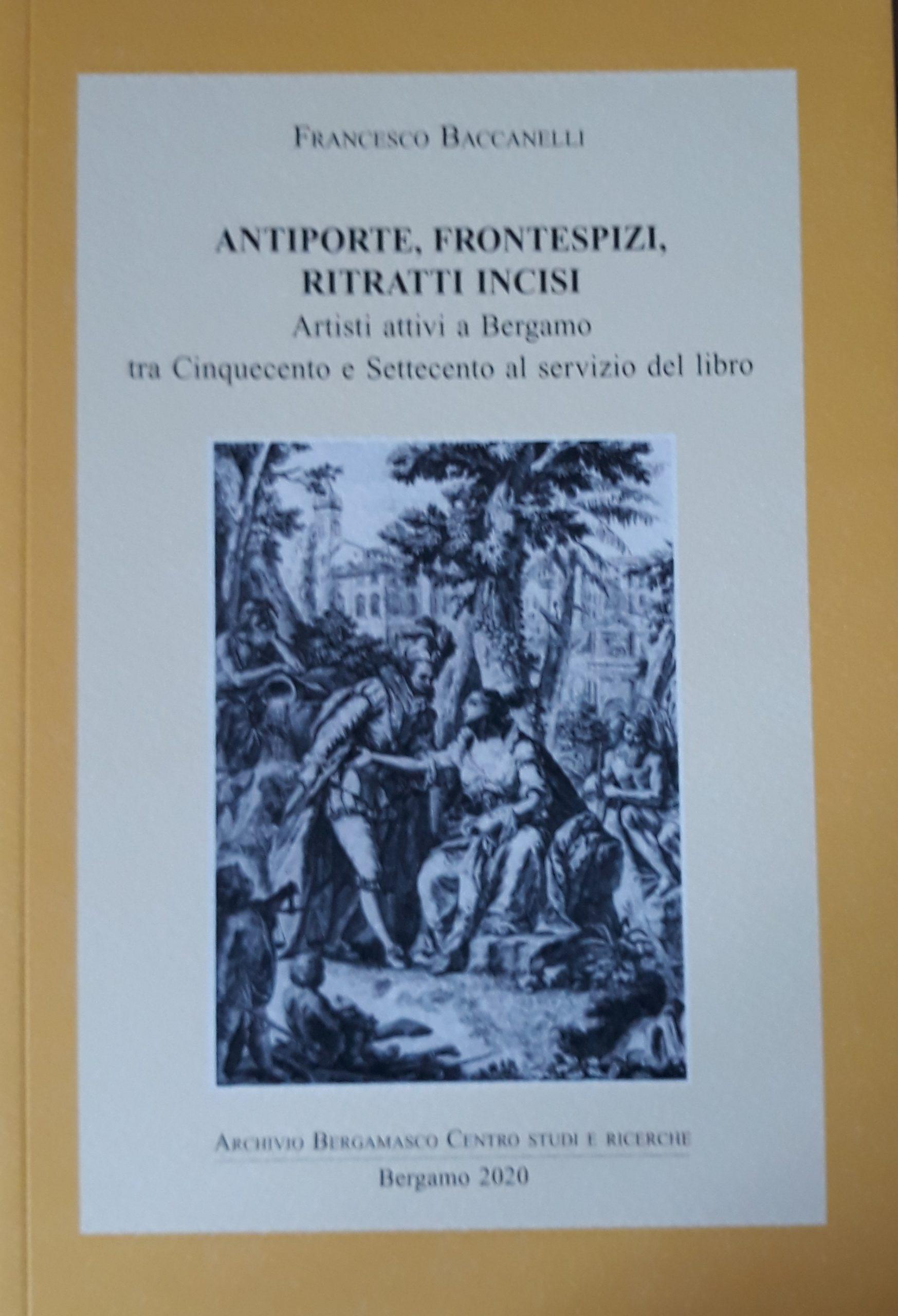 Francesco Baccanelli, Antiporte, frontespizi, ritratti incisi